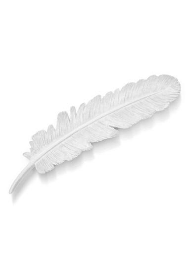 The Mia Dekor  Kuş Tüyü Beyaz - 30 Cm Beyaz